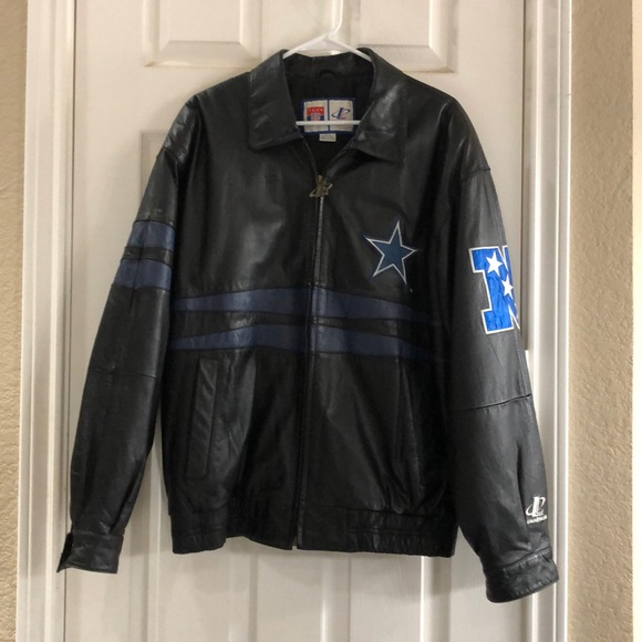 size 40 f637a 92ebe Dallas Cowboys Leather Jacket
